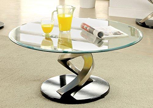 Furniture of America Kalliope Modern Coffee Table, Metallic Finish