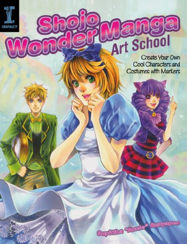 [Shojo Wonder Manga Art School: Create Your Own Cool Characters and Costumes with Markers] (Comic Book Character Costumes Uk)