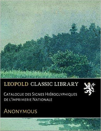 Livres gratuits Catalogue des Signes Hiéroglyphiques de l'Imprimerie Nationale pdf, epub