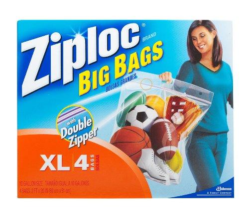 Ziploc Big Bag Double Zipper, X-Large, 4-Count, Health Care Stuffs