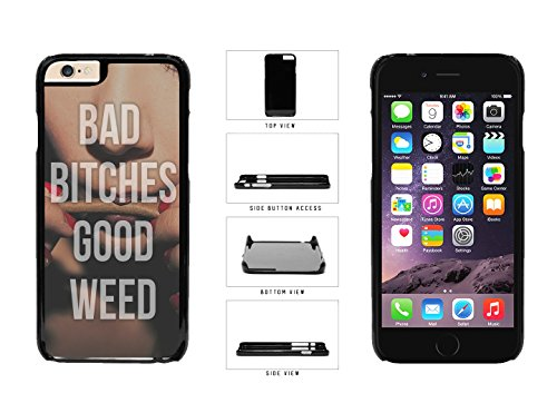 Bad Bitches Good Weed Plastic Phone Case Back Cover Apple iPhone 6 Plus and iPhone 6s Plus (5.5 Inches) includes BleuReign(TM) Cloth and Warranty Label
