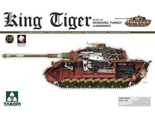 (Takom 1/35 Sd.Kfz.182 King Tiger Henschel Turret w/Zimmerit No. 2045)