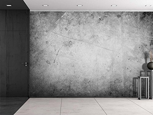 Wall26 - Grayscale Grungy Texture with a Vignette Effect Around It - Wall Mural, Removable Vinyl Wallpaper, Home Decor - 100x144 inches