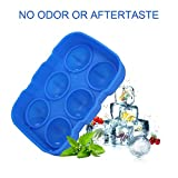 LOHOME Silicone Ice Ball Maker Mold - Sphere Whiskey Ice Mold Reusable & BPA Free Round Ice Cube Trays Combo Pack of 2 (Rose Red + Blue)