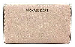 Michael Kors Jet Set Travel Saffiano Leather Slim Bifold Wallet Ballet