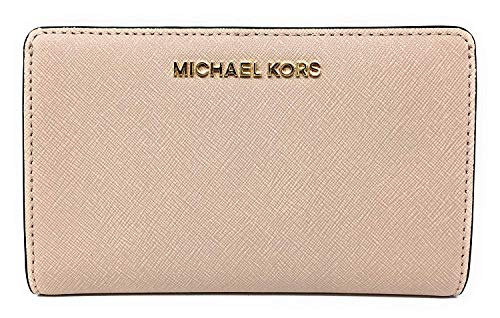 Michael Kors Jet Set Travel Saffiano Leather Slim Bifold Wallet (Ballet)