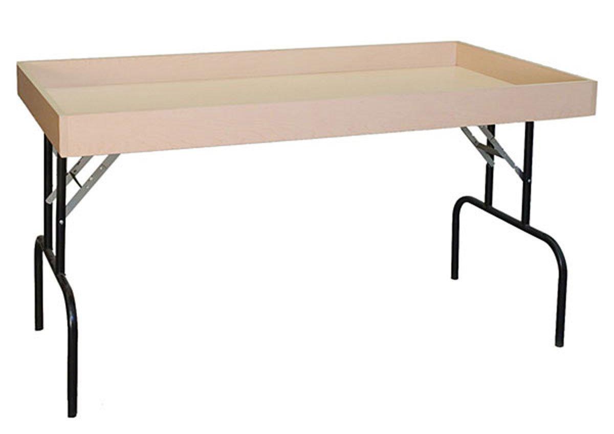Retail Display Dump Folding Table 30''W x 60''L Ship Knockdown Maple Lot of 2 NEW