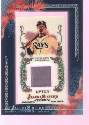 B.J. BJ UPTON 2011 TOPPS ALLEN & GINTER GAME USED WORN JERSEY PATCH RAYS $12 - Upton Game