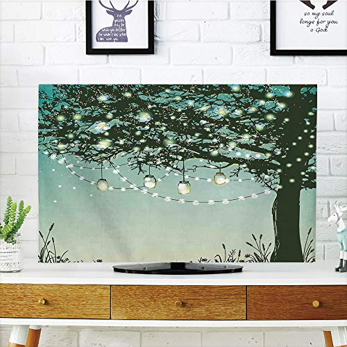 Cheap  iPrint LCD TV dust Cover Strong Durability,Magical,Lanterns and Lamps Hanging on Tree..