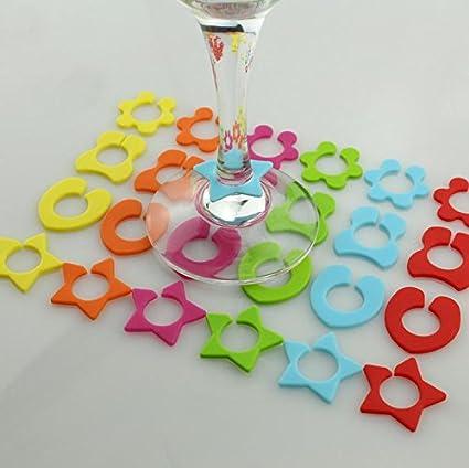 CHIPYHOME 24 Unds marcadores vasos identificadores de bebidas de invitados ideales en tu barbacoa, fiesta