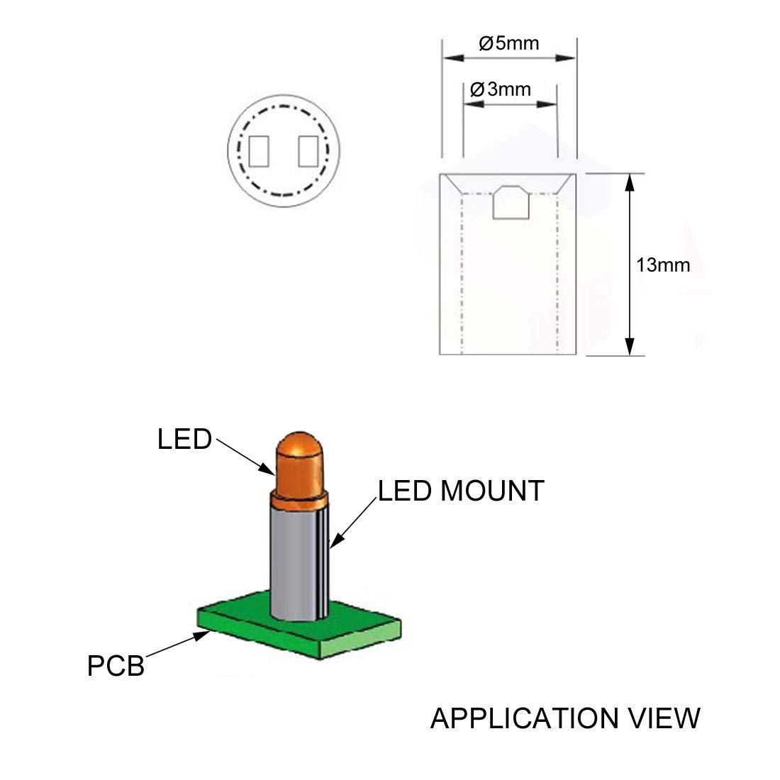 uxcell 1000pcs 3x4x5mm Nylon Straight Insulating Tube PCB LED Mount Standoff Spacer