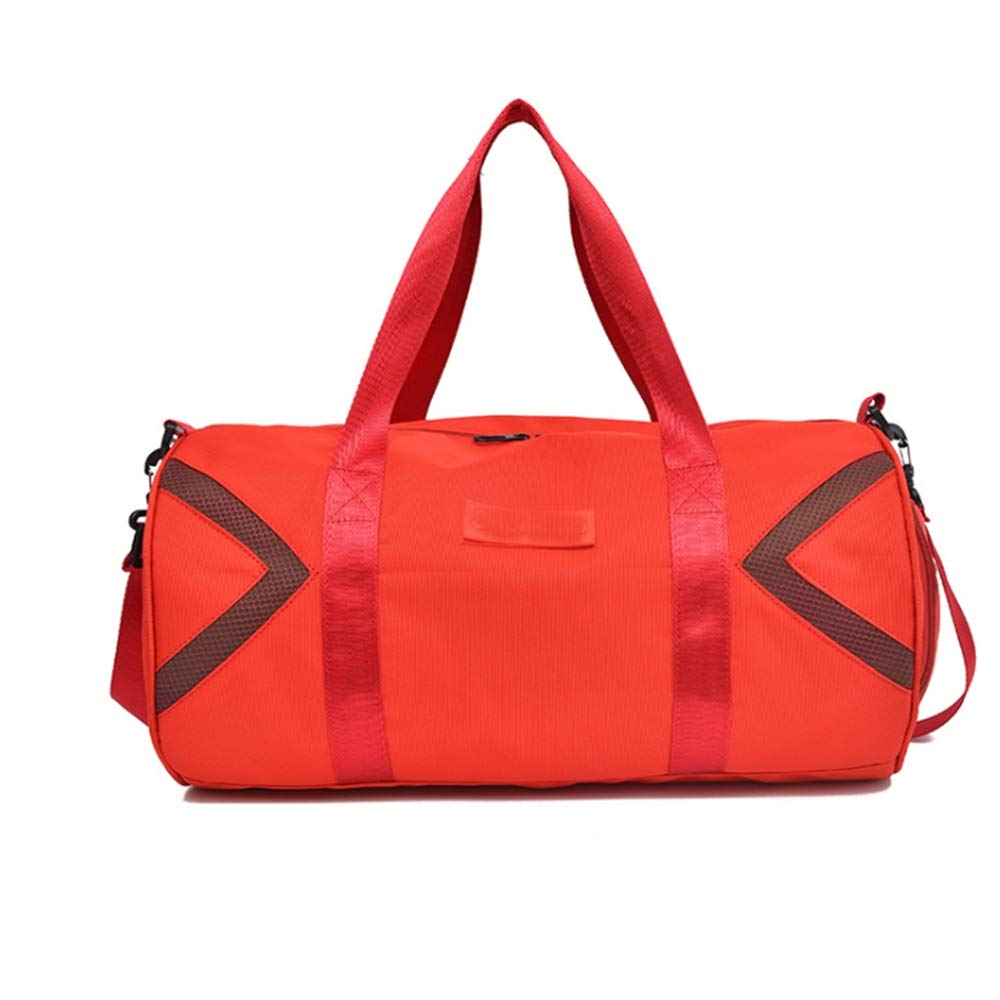 Red Sport Gym Duffle Holdall Bag Training Handbag Yoga Bag Travel Shoulder Tote Bag with shoes Compartment for Man and Women