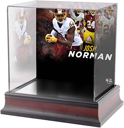 Sports Memorabilia Josh Norman Washington Redskins Deluxe Mini Helmet Case - Football Mini Helmet Free Standing Display Cases