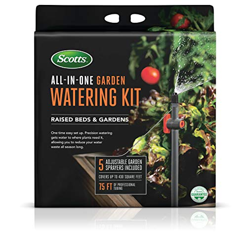 Scotts All-in-One Garden Watering Kit | Easy Set Up For Season Long Precision Watering | Reduces Water Waste | Flexible Tubing & Quick Connect Technology Makes Watering Easier & More Versatile
