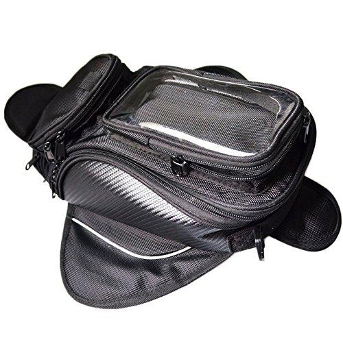 Oil Fuel Tank Bag,GES Universal Motorcycle Oil Fuel Tank Bag Magnetic Motorbike Riding Waterproof Bag Black