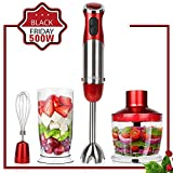 KOIOS Powerful 500 Watt Immersion Blender Setting 6-Speed...