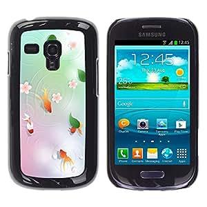 Remolina Goldfish En Un Estanque - Metal de aluminio y de plástico duro Caja del teléfono - Negro - Samsung Galaxy S3 MINI i8190 (NOT S3)