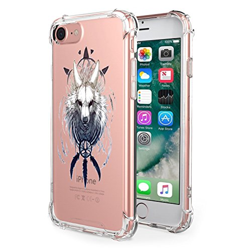 Apple iPhone iPhone Cover Silicone Clear 7 Premium Ultra Gel Trasparente Flessibile 8 8 Slim per BackCase iPhone iPhone Thin Scratch Anti Custodia 06 TPU Crystal 7 1R6xnEYqw5