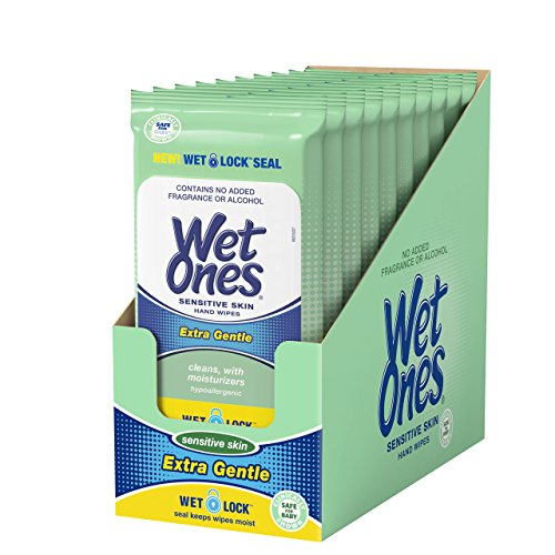 Wet Ones Sensitive Skin Hand Wipes, 20 Count (Pack Of 10) from Wet Ones
