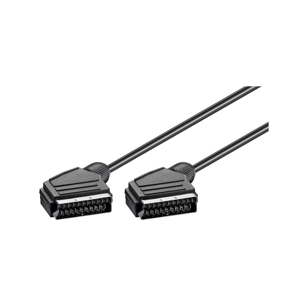 SCART - Cables EUROCONECTORES 21-pin 1,5 m, SCART 21-pin 21-pin , Male connector//Male connector Goobay SK 21-150 LC 1.5m cable EUROCONECTOR 1,5 m SCART
