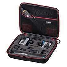 Smatree SmaCase G260SL Carrying Case for Gopro Hero 6/5/4/3+/3/2/1 Cameras and Smatree F1 Series Floating Poles Accommodated Together (Cameras and Accessories NOT included)