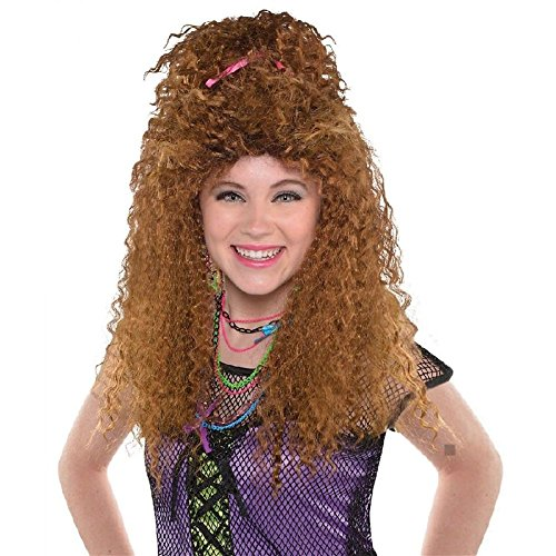 80s Costume Wig Adut Crimped Halloween Fancy (Afro Puff Wig 80s Costumes)