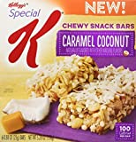 Special K Kellogg's Chewy Snack Bars, Caramel Coconut, 5 Count (Pack of 4 Boxes)