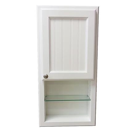 Beau WG Wood Products Egypt Series On The Wall Cabinet With Shelf U0026 Beadboard  Door, 30u0026quot