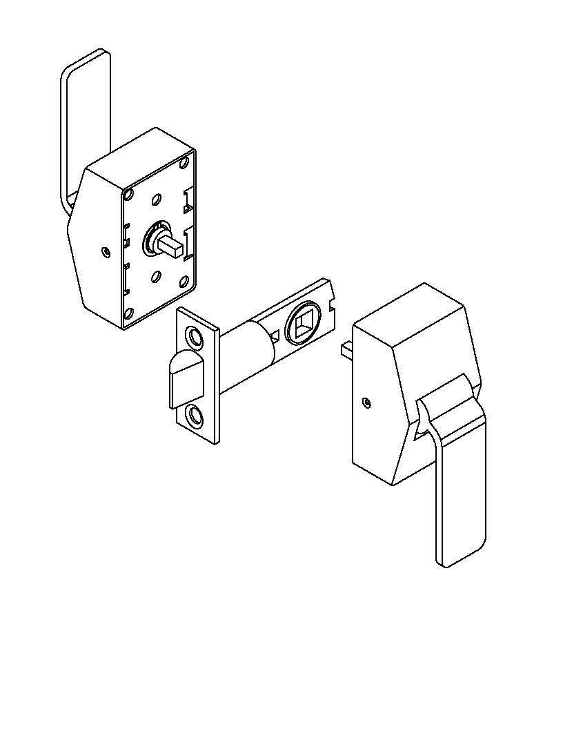 ABH 6000 Series Cylindrical Hospital Push//Pull Latch Satin Stainless Steel, 5 Backset /& ASA Strike
