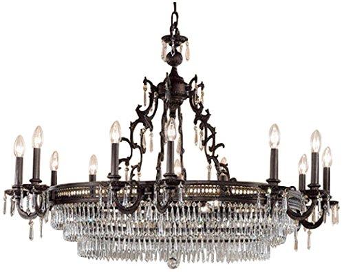 Classic Lighting 55519 MB C Renaissance, Crystal, Chandelier, Matte (Renaissance Bronze Chandelier)