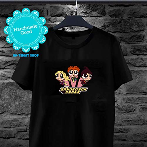 (Halloween - The Sanderson Girl Powerpuff Girl Cartoon Three Witches Squad Hocus Pocus T-shirt for men and)