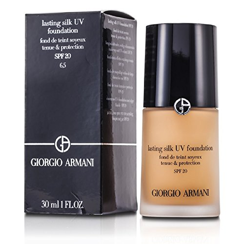 Giorgio Armani Lasting Silk UV Foundation SPF 20, No. 6.5 Tawny, 1 Ounce