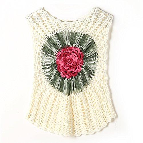 iBaste DamenSexyStrandkleid mit Blumen Mustern bedrucken Bikini Cover Up für Bademode Bikini Badeanzug