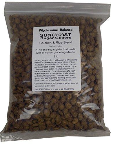 3.0 LB Bag Wholesome Balance Chicken & Brown Rice Blend Sugar Glider Food ()
