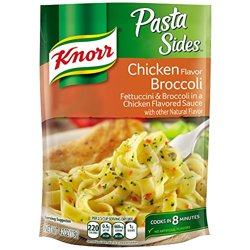 Knorr Pasta Side Dish, Chicken Broccoli, 4.2 oz, Pack of 8