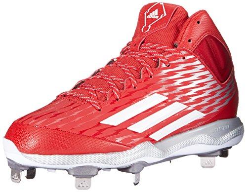 adidas Rendimiento Hombre Poweralley 3Mid Zapatillas de béisbol Power Red/White/Grey Metallic