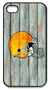 icasepersonalized Personalized Protective Case For HTC One M7 Cover NFL Cleveland Browns in Wood Background