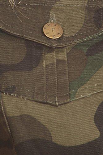 Funteze Cropped Army Print Button Up Vest (Large) by Funteze (Image #4)