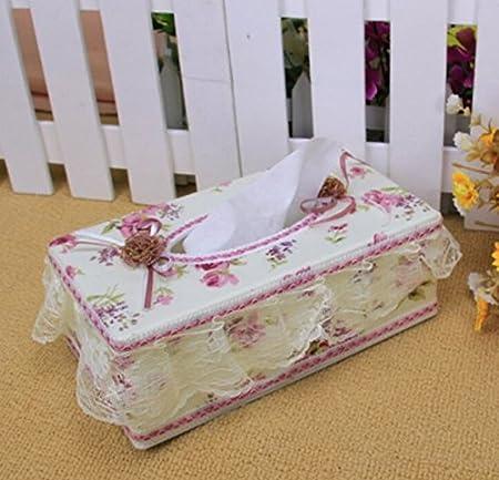Diseño de rosas de tela ablashi caja para pañuelos Kleenex tejido ...