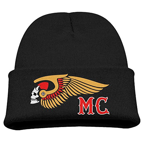 Price comparison product image Beanie Knit Cap Hells Angels Motorcycle Club Logo Trendy Soft Kids