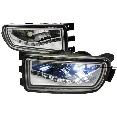 Spec-D Tuning LF-GS30098LED-APC Lexus Gs300 Gs400 Gs430 Front Led Bumper Lamps Drl Fog Lights Chrome Clear