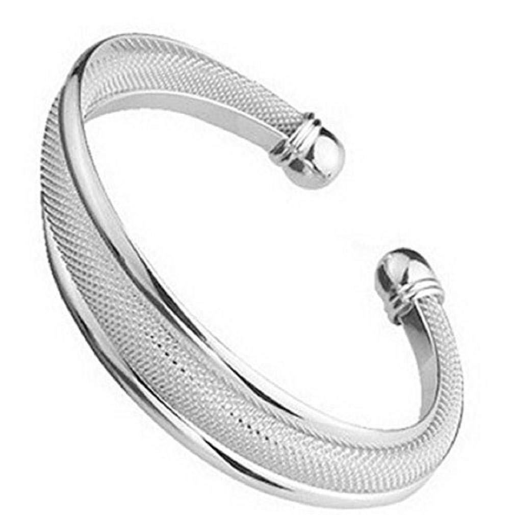 Simple Style 925 Sterling Silver Bangle Women Gift Bracelets Bangles
