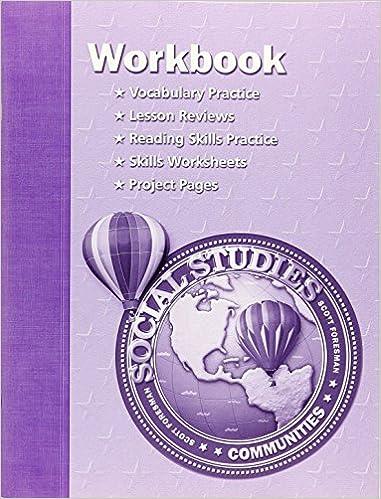 SOCIAL STUDIES 2003 WORKBOOK GRADE 3
