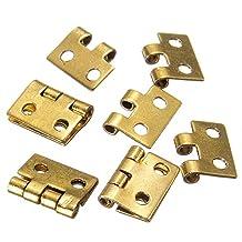 5pcs Mini Metal Hinges For 1/12 Dollhouse Miniature Furniture.