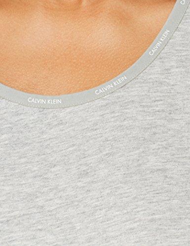 Mujer s Nightshirt Camisón Klein Heather S 020 Calvin grey Gris Para 4qHwAYUx