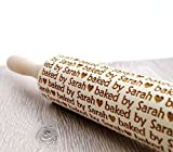 Embossing rolling pin, personalized rolling pin