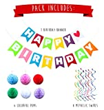 Felt Birthday Banner Pack - Colorful Kids Birthday Party Decorations