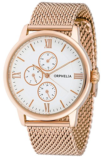 6dcd0571f ORPHELIA Men's Multi Dial Executive Rose Gold Stainless steel-122-9707-17