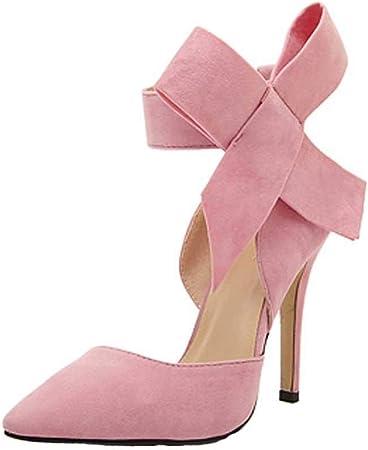 Chaussures Bottines Femme, Xinantime EsCarPins Pour Femmes AveC un nœud PaPillon et des Talons Aiguilles, Ainsi que des Chaussures Taille Forte