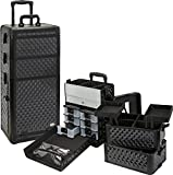 Seya Professional 3 in 1 Rolling Makeup Case (Black Diamond)